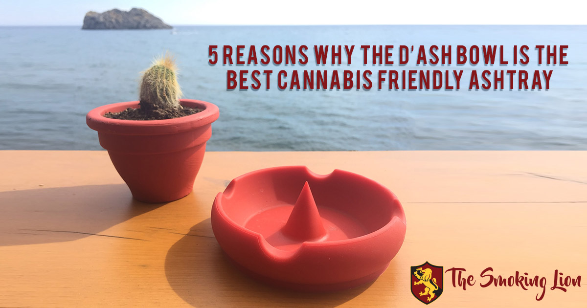 Image of the best cannabis friendly ashtray by the ocean